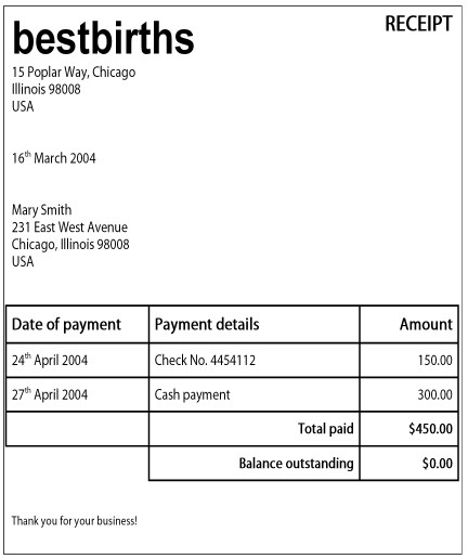Index Of Imagescoursesdoula - Doula invoice template