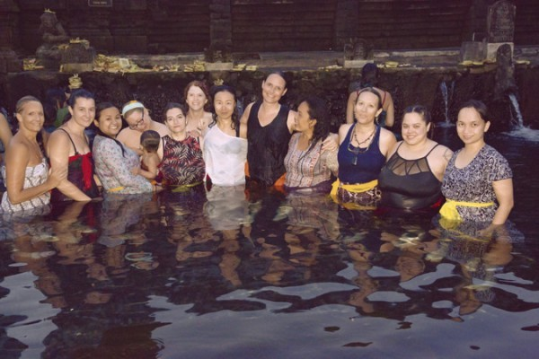 Birthworkers at retreat on an excursion to temple