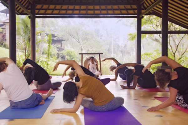 Doula retreat - yoga class